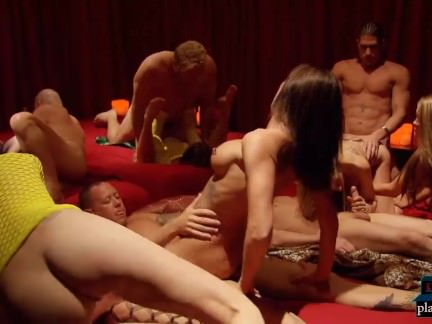 Swinger cowboy couple first time orgy